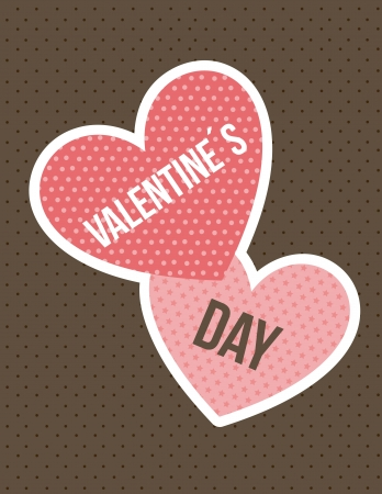 valentines day card over brown background. vector illustration Stock Vector - 16997321