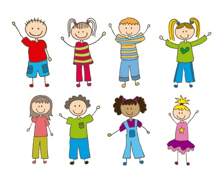 drawing boy: children drawing over white background. vector illustration