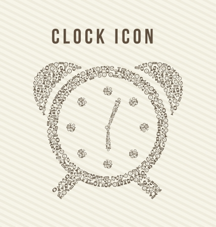 clock icons over beige background. vector illustration Stock Vector - 16997714