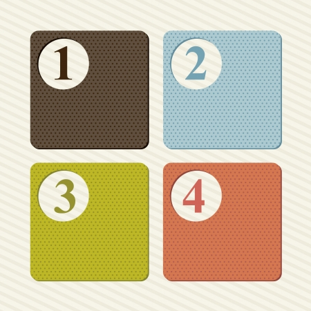 labels with numbers over beige background. vector illustration Stock Vector - 16997592
