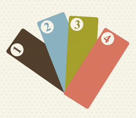 labels with numbers over beige background. vector illustration Stock Vector - 16997291