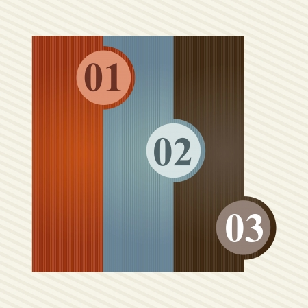labels with numbers over beige background. vector illustration Stock Vector - 16997044
