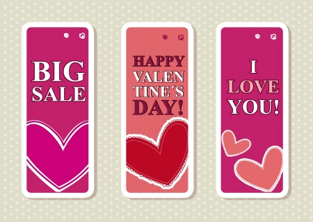 valentines day labels over beige background. vector Stock Vector - 16997664