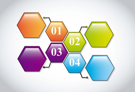 labels with numbers over gray background. vector illustration Stock Vector - 16997035