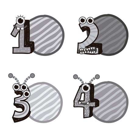 numbers drawing over white background. vector illustration Stock Vector - 16997311