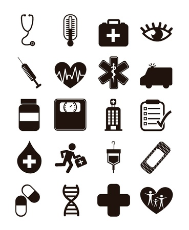 medical icons over white background. vector illustration Stock Vector - 16996814