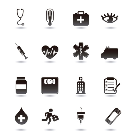 medical icons over white background. vector illustration Stock Vector - 16996920