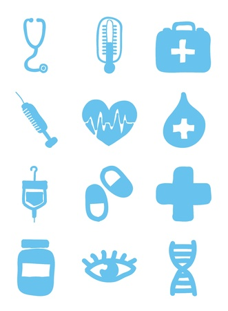medical icons over white background. vector illustration Stock Vector - 16996681