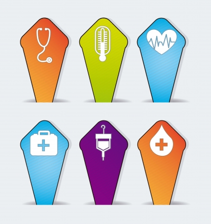 medical icons over gray background. vector illustration Stock Vector - 16997331