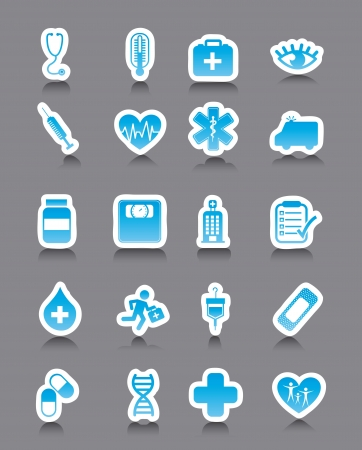 medical icons over gray background. vector illustration Stock Vector - 16996933