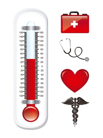 medical icons over white background. vector illustration Stock Vector - 16997324