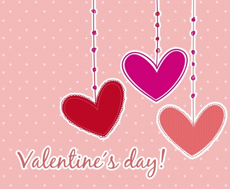 valentines day card over pink background. vector illustration Stock Vector - 16997636