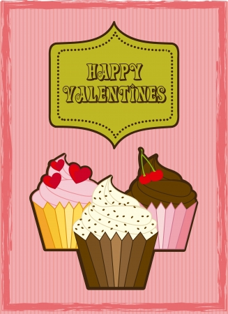 valentines day card over pink background. vector illustration Vector