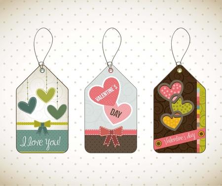 valentines day card over vintage background. vector illustration Stock Vector - 16997699