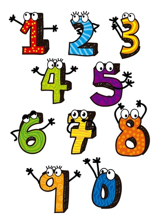 numbers drawing over white background. vector illustration Vector
