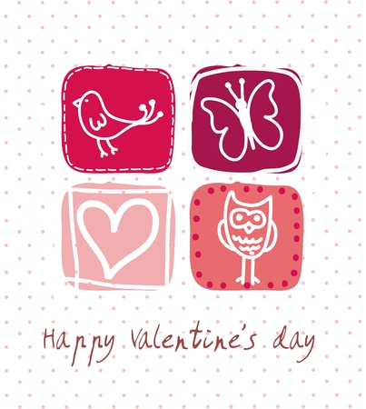valentines card background, pink. vector illustration Vector