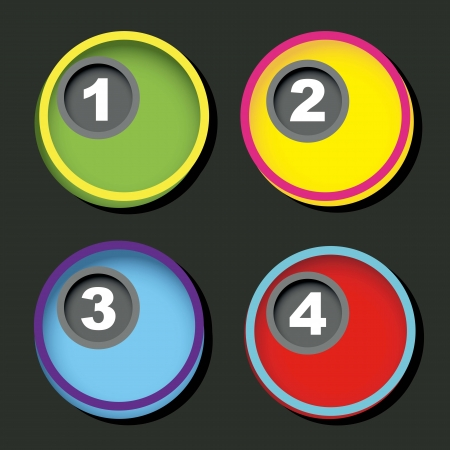 numbers over circles with shadow background. vector illustration Stock Vector - 16996672