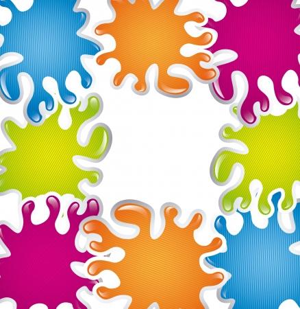 colorful splash  over white background. vector illustration Stock Vector - 16997691