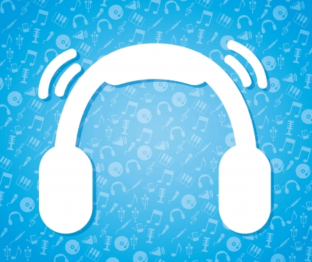 music icon over blue background.vector illustration Stock Vector - 16997546