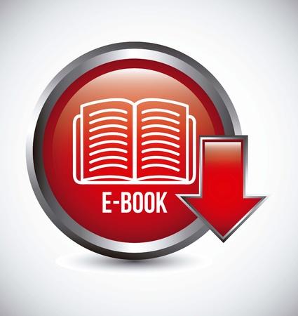 elettronic: e book button over gray background. vector illustration
