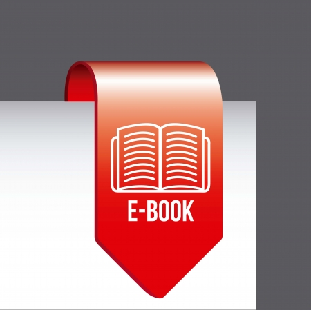 elettronic: e book button over gray background. vector illustration
