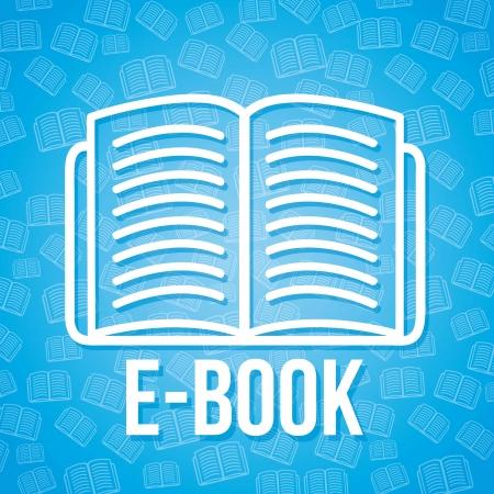 e book icon over blue background. vector illustration Stock Vector - 16997708