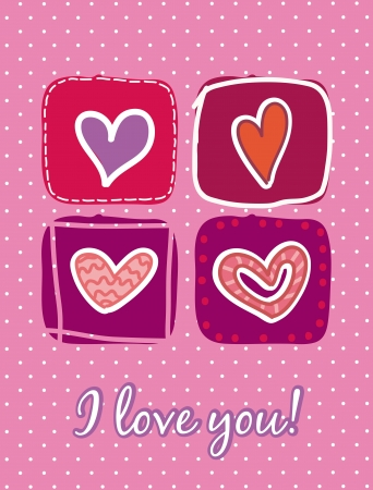 valentines day card over pink background. vector illustration Stock Vector - 16996915