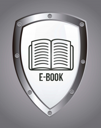 e book icon over gray background. vector illustration Vettoriali