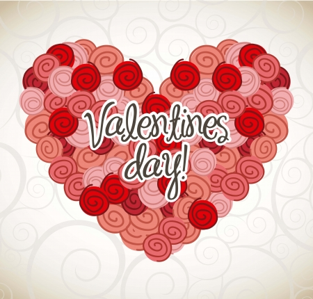 valentines day card over beige background. vector illustration Stock Vector - 16997322
