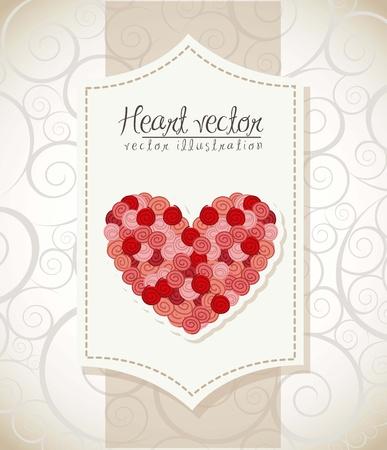 valentines day card over vintage background. vector illustration Stock Vector - 16997319