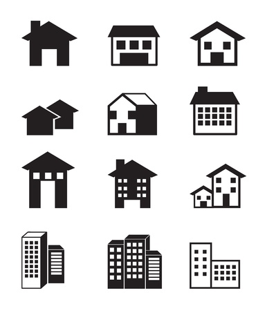 houses icons over white background vector illustration Stock Vector - 17349131