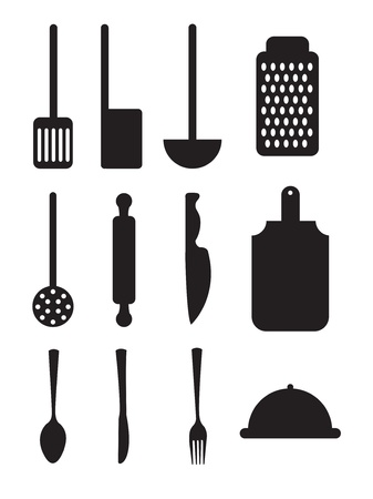 cutlery icons over white background vector illustration Stock Vector - 17349124