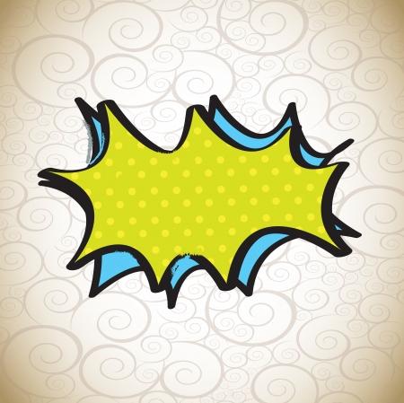 super hero: blank comic cloud over vintage background vector illustration