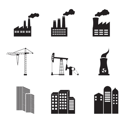 Industry icons over white background vector illustration Stock Vector - 17349186