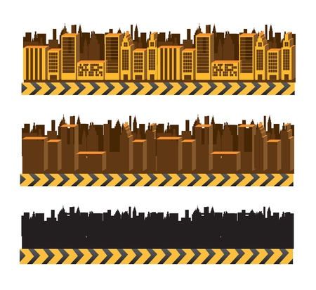 City and buildings over white background vector illustration Stock Vector - 17349194