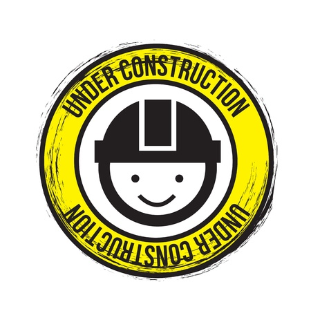 signal of under construction over white background Stock Vector - 17349284