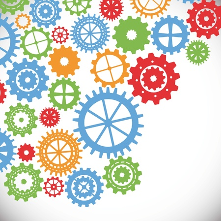 gears silhouette over gray background. vector illustration Stock Vector - 17349224
