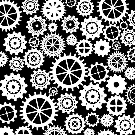 gears silhouette over black background. vector illustration Vector