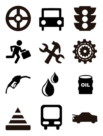 car maintenance and repair icons over white background. vector illustration Vector
