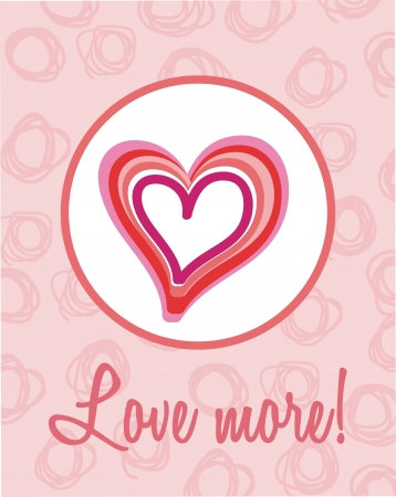 love card with heart and pink background. vector illustration Stock Vector - 17349187