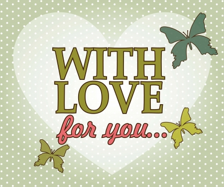 love card with heart over green background. vector illustration Stock Vector - 17349363