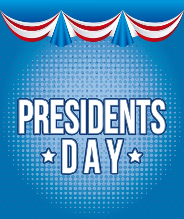labor strong: presidents day background, united states. vector illustration