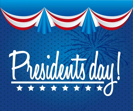 president of the usa: presidents day background, united states. vector illustration
