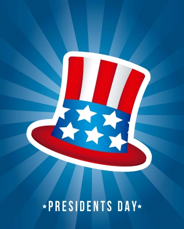 presidents day background, hat. vector illustration Vector