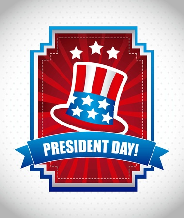 presidents day background, united states. vector illustration Stock Vector - 17349405