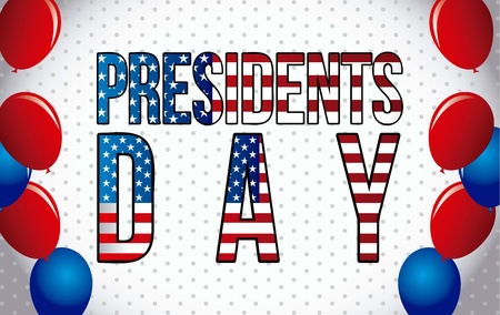 presidents day background, united states. vector illustration Stock Vector - 17349397