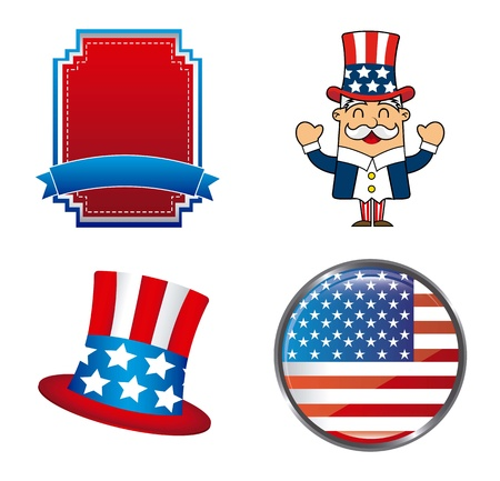 presidents day background, united states. vector illustration Stock Vector - 17349375