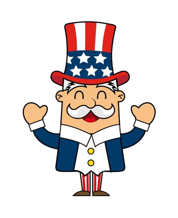 uncle sam cartoon isolated over white background. vector Stock Vector - 17349246
