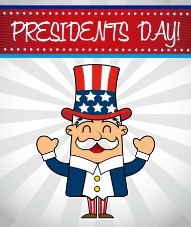presidents day background, uncle sam. vector illustration Stock Vector - 17349285