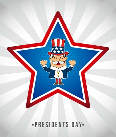 presidents day background, uncle sam. vector illustration Stock Vector - 17349378
